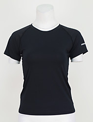 cheap -Women's Running T-Shirt Short Sleeves Quick Dry Breathable T-shirt Top for Yoga Exercise & Fitness Running Polyester Elastane S M L XL