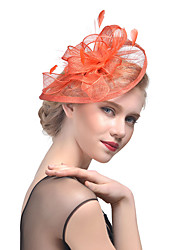 Women's Retro Feather / Tulle / Yarn Headpiece-Wedding / Special Occasion Flower Fascinators Bride Headbands 1 Piece Hair Accessories