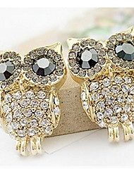 cheap -Men's Women's Stud Earrings Drop Earrings Rhinestone Basic Circular Unique Design Dangling Style Animal Design Pendant Rhinestones Heart