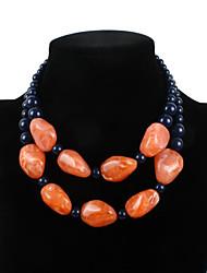Femme Colliers/Sautoir Imitation de perle Résine Bikini Mode euroaméricains Bijoux Movie Bijoux de Luxe USA Classique Orange Violet Bijoux