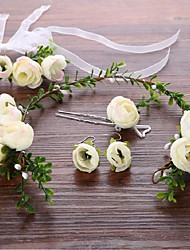 cheap -Alloy Flowers / Hair Stick with 1 Wedding / Special Occasion Headpiece