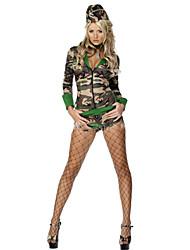 abordables -Soldado / Guerrero Disfrace de Cosplay Mujer Halloween / Carnaval Festival / Celebración Disfraces de Halloween Camuflaje Moda