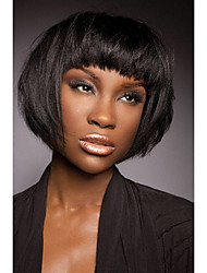 cheap -Enchanting Elegant  Straight Short Human Hair Wig Fashionable     Woman hair