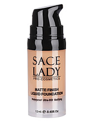 cheap -6 Foundation Matte Cream Fast Dry Moisture Coverage Oil-control Long Lasting Concealer Uneven Skin Tone Natural Pore-Minimizing
