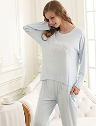 Недорогие -женский стиль пижамной девушки. чистый хлопок. двухсекционный наряд. пижама