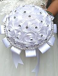 Fleurs de mariage Rond Roses Bouquets La Fête / soirée Satin Perle Strass