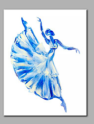 cheap -Hand-Painted Modern Panel Canvas Ready To Hang Dancing Girl  Decorative Oil Painting