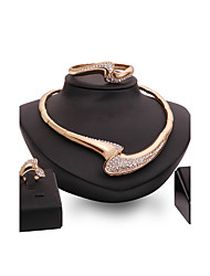 economico -Per donna Set di gioielli Strass Personalizzato Lusso Vintage Euramerican Di tendenza Matrimonio Fidanzamento Strass Placcato in oro Lega