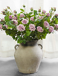 5Head/Branch European Style Roses Home Decoration Artificial Flower