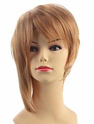 economico -Donna Parrucche sintetiche Pantaloncini Dritto Kinky liscia Blonde Parrucca naturale Parrucca per travestimenti