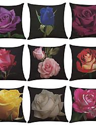 abordables -9 PC Lino Cobertor de Cojín Funda de almohada,Sólido Con Texturas Moderno/Contemporáneo Casual Tradicional/Clásico Estilo playero Tropical