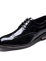 Men's Shoes Customized Materials Spring Fall Comfort Loafers & Slip-Ons Split Joint For Casual Outdoor Office & Career Black Brown