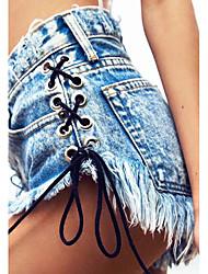 Women's Mid Rise Micro-elastic Jeans Pants,Simple Slim Tassel Solid