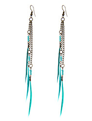 cheap -lureme® Drop Earrings Jewelry Unique Design Natural Friendship Inlaid Sexy Feather Line Jewelry For Party Business Casual Sports Beach Bikini1