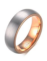 preiswerte -Herrn Ring Personalisiert Grundlegend Modisch Euramerican Simple Style Wolframstahl Kreisförmig Kreisform Geometrische Form Schmuck Party