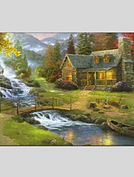 cheap -Oil Paintings Modern Landscape Style Canvas Material With Wooden Stretcher Ready To Hang Size60*90CM and 50*70CM.