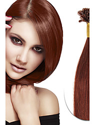 100s brazilian virgem real cabelo humano remy u ponta fusão extensão de cabelo unha ponta extensões de cabelo keratina fusão