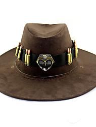 economico -Copricapo Distintivo Altri accessori Ispirato da Overwatch Kaito Anime Accessori Cosplay Cappellini Cappelli Lega Velluto a coste