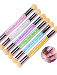 1PC Nail Art Tool The Gradient Shading Pen Sponge Pen Double Wash Can Change Color  Random