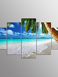 cheap -Stretched Canvas Print Landscape Modern,Five Panels Canvas Any Shape Print Wall Decor For Home Decoration