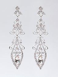 baratos -estilo novo deixa brincos de cristal elegante estilo feminino clássico