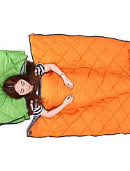 Schlafsack Rechteckiger Schlafsack Einzelbett(150 x 200 cm) 10 HohlbaumwolleX73 Camping Reisen Draußen Drinnenwarm halten Wasserdicht