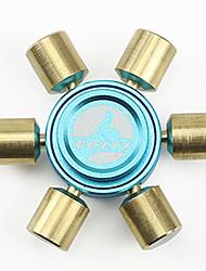 Spinners de mão Mão Spinner Brinquedos Seis Spinner Metal Latão EDCO stress e ansiedade alívio Brinquedos de escritório Alivia ADD, ADHD,