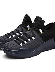 Basketball Shoes Men's  Fashion Light Mesh Fly Woven Breathable Sneakers Plus Size 39-45