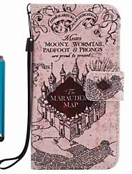 billige -Til kuffert kortholder lommebok med stativ flip mønster fuld krops kasse med stylus udsigt over byen hard pu læder til Apple iPhone 7 plus