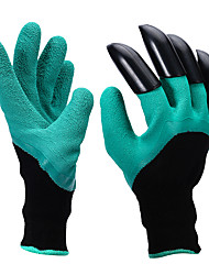 cheap -2Pcs/Set   Protective Gloves Flowers Can Be Digging Labor Insurance Gloves Rubber Protective Insulation