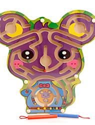 Недорогие -Игрушки Магнитный лабиринт Игрушки Мышь Дерево Куски Универсальные Подарок
