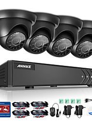 cheap -ANNKE® 1080P VGA HDMI 8CH 4PCS 720P HD 4in1 P2P Video CCTV IP Camera Night Vison IR Home Surveillance System