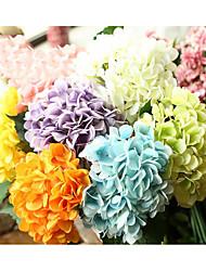 cheap -5 Branch Silk Hydrangeas Tabletop Flower Artificial Flowers