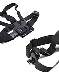 cheap -Chest Harness Front Mounting Foldable Adjustable All in One Convenient For Action Camera Gopro 6 All Gopro Xiaomi Camera Gopro 4 Black