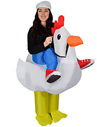 cheap -Chicken Cosplay Costume Waterproof  Costume Inflatable Costume Party Costume Halloween Props Movie Cosplay Leotard / Onesie Air Blower