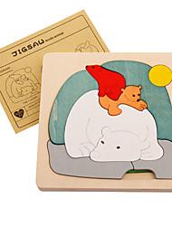 preiswerte -Puzzles Holzpuzzle Bausteine Spielzeug zum Selbermachen Quadratisch Holz Freizeit Hobbys