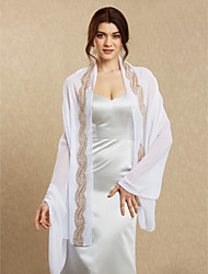 cheap -Chiffon Wedding Party Evening Women's Wrap With Sequin Shawls