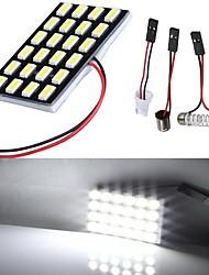 Lorcoo White LED Car Lights Bulb T10 5050 24-SMD 194 168(4pcs)