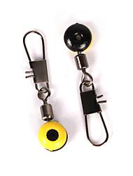 50 pcs Accessoires de pêche Jaune g/Once mm pouce,Caoutchouc Acier inoxydable/ferPêche en mer Pêche sur glace Pêche d'eau douce Autre
