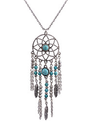 cheap -Women's Dream Catcher Shape Bohemian Euramerican Fashion Pendant Necklace Alloy Pendant Necklace Daily Costume Jewelry