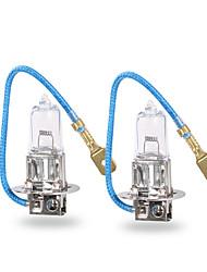 Ampoule auto gmy® halogène auto ampoule h3 claire série 24v 100w phare 2pcs