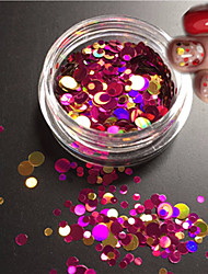 1bottle fashion mixed glitter coloré nail art brillance ronde paillette tranche laser ongle art beauté ronde coupe décoration p3