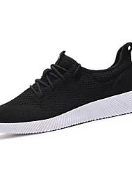 Da uomo scarpe da ginnastica Comoda Tulle Primavera Autunno Casual Footing Comoda Più materiali Piatto Nero Blu 5 - 7 cm
