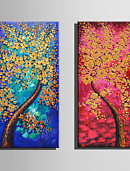 E-HOME Stretched Canvas Art Tree Full Of Golden Flowers Decoration Painting One Pcs