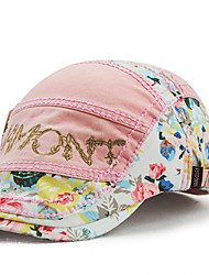 Women's Cotton Beret Hat Peaked Cap Vintage Casual Sports Embroidery Print Summer All Seasons Blue/White/Black/Green/Pink