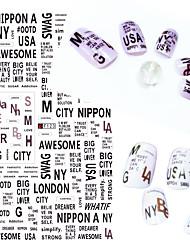 1pcs fashion nail diy beauté ongle art 3d autocollants belle personnalité alphabet anglais design manucure beauté décoration f123