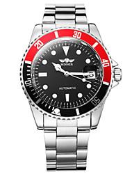 cheap -WINNER Men's Dress Watch / Wrist Watch / Mechanical Watch Calendar / date / day / Luminous Stainless Steel Band Luxury Silver / Automatic self-winding