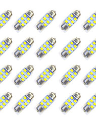 Недорогие -20pcs 31mm 6 * 2835 smd вело свет электрической лампочки автомобиля dc12v