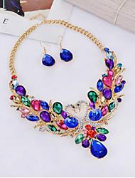 abordables -Mujer Conjunto de joyas - Gota, Animal Colgante, Bohemio, Moda Incluir Collar / pendientes Azul Para Fiesta / Aniversario / Diario / Pendientes / Collare