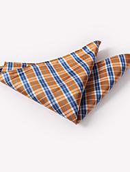 Недорогие -мужская мода сетка клетчатые квадраты полиэстер шелк одежда карман квадратный